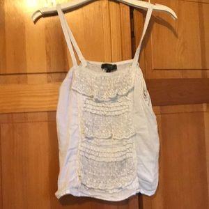 Jessica Simpson white lace tank top size S